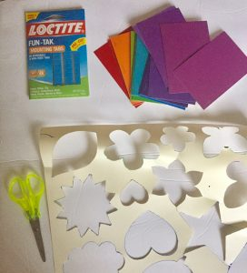 Materials for Paint Swatch Wall Art Craft
