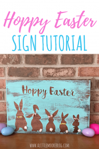 Update your Easter home decor with this super cute Hoppy Easter Sign tutorial!