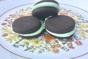Thin Mint Marshmallow Cookies