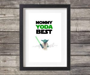For the Mom who is a Star Wars fan, they made this with you in mind.