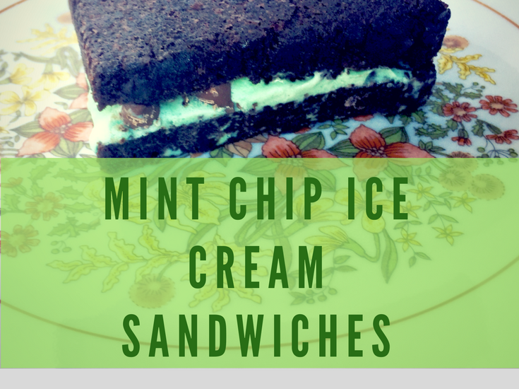 Mint Chip Ice Cream Sandwiches