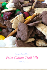 Bag up some of this yummy Petter Cotton Trail mix from Hampton Roads Moms to hand out as an Easter Snack.