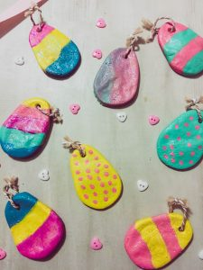 The kids will have a blast with this Salt Dough Easter craft from Ghastly Girl blog.