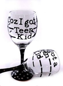 Know a Momma who has a teen kid? Yeah... she needs this glass ASAP.
