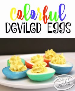 Add a new spin to a classic recipe with this Colorful Deviled eggs recipe from STL Motherhood.