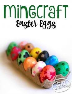 Do you have a Minecraft fan on your hands? If so, they will absolutely love this creative Easter egg decoration idea from STL Motherhood.