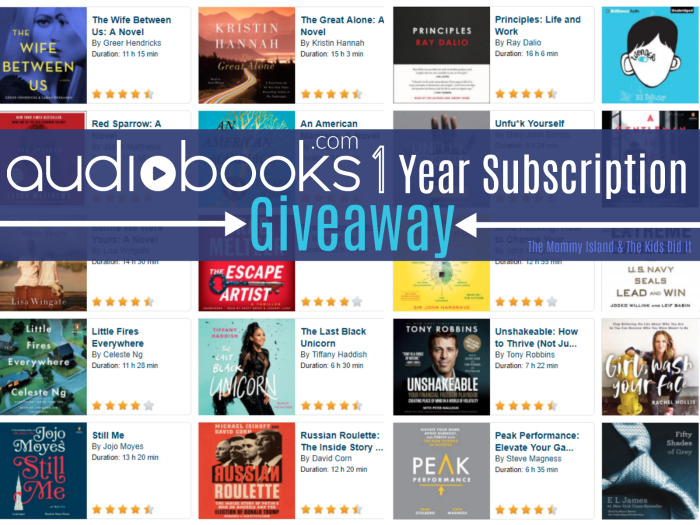 Enter to Win in this Audiobooks Giveaway