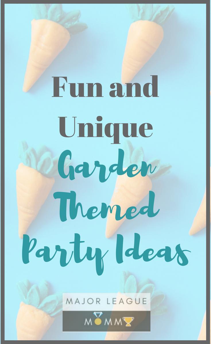 Fun and Unique Garden Themed Party Ideas