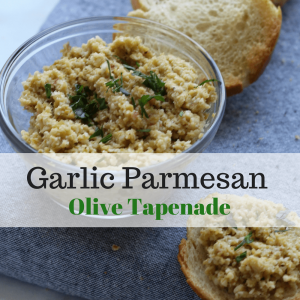This Garlic Parmesan Olive Tapenade from Project Life Wellness can be used as a spread and/or dip to compliment some of your favorite dishes.