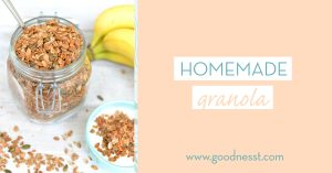 Homemade granola is a healthy snack option really for any point in the day, and it is totally appropriate to have prepared for brunch.
