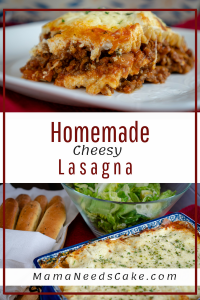 The Mama Needs Cake Blog has a tasty Homemade Cheesy Lasagna Recipe that Dad is sure to love.