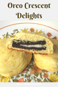 Here is a recipe of my own that I shared on Metro Detroit Mommy. These Oreo Crescent Delights were a huge hit in our household.