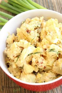 We all love a good potato salad, and The Domestic Life Stylist has a unique flavor-packed Picnic Potato Salad Recipe that will be a blessing to your taste buds.