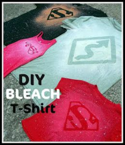 Six Sisters' Stuff blog has a DIY Bleach t-shirt tutorial you can use to create your team shirts