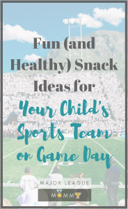 Check out these fun snack ideas for your child's game day