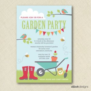 These garden party invitations are vibrant and fun just like the party itself!