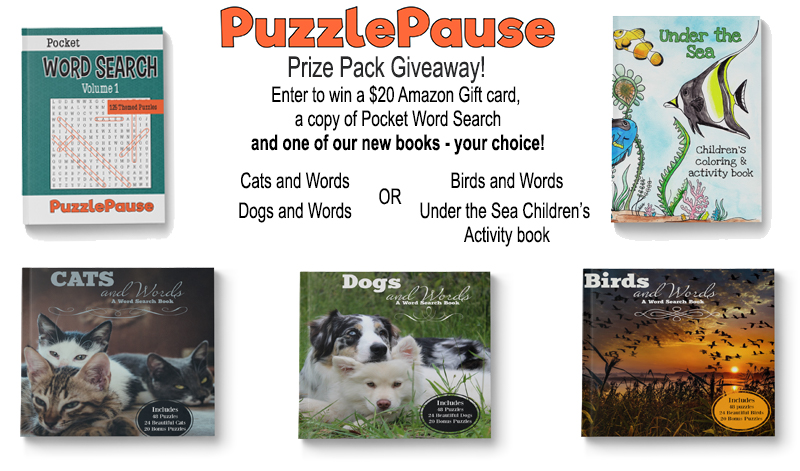 Enter to win this Puzzle Pause Prize Pack!