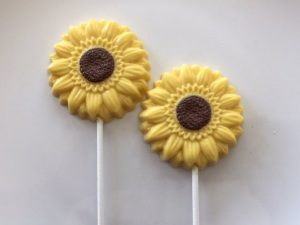 The kiddos will most definitely love these chocolate sunflower lollipops! YUM.