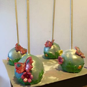 Have some fun with your birthday treats! Pick your favorite flavors for these garden themed cake pops.