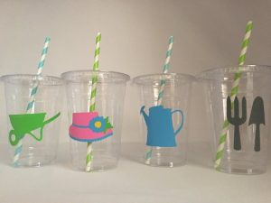Stuff these disposable cups with small favors for the kiddos for a creative party favor idea.