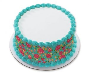 Use this edible image to create a quick and easy garden party cake
