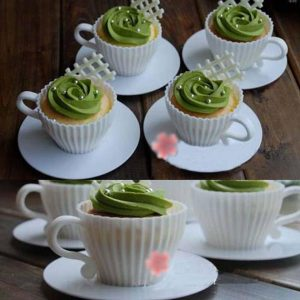Bake your cupcakes right in these adorable little tea cup molds for an elegant treat.