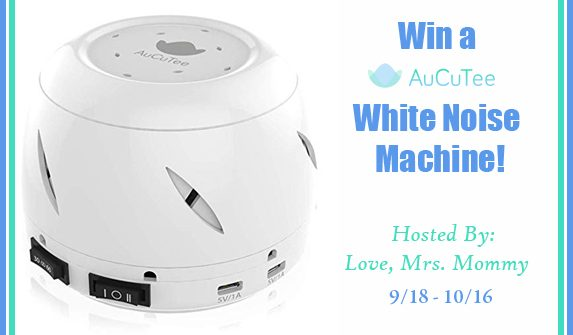 Having trouble sleeping? Having trouble getting the little ones to sleep? You may want to consider trying out a White Noise Machine. As a matter of fact, you can enter to win one right now just for your household. Enter to win in the Sleep Soundly with AuCuTee's White Noise Machine Giveaway! Good luck.