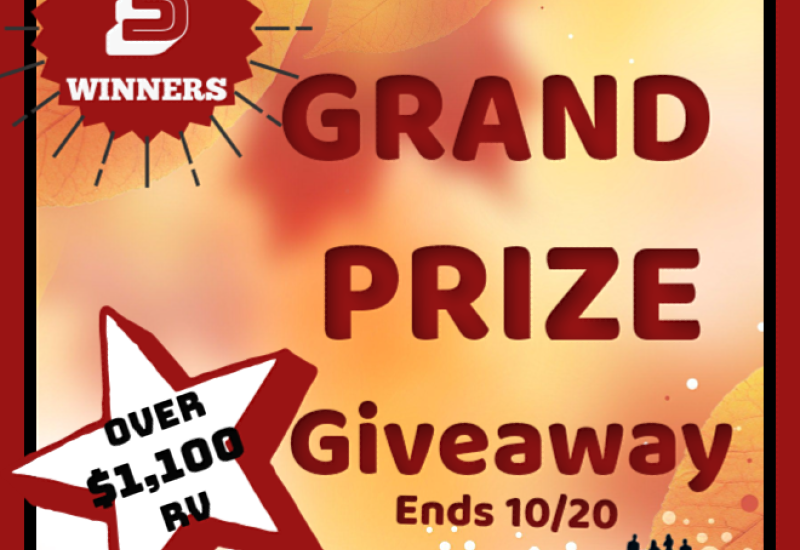 Fall is officially in session, and what better way to celebrate than with a big ol' giveaway?? Here is your chance to win BIG. Enter to win in the Fall Grand Prize Giveaway before it's too late. Enter away, and good luck!