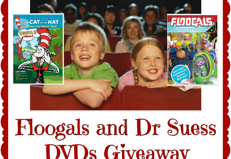 We are big time Dr. Seuss fans over here, so this giveaway is kind of a big deal for us. Don't miss out on the excitement. Enter to win in the Floogals and Dr Seuss DVDs Giveaway. Good luck.