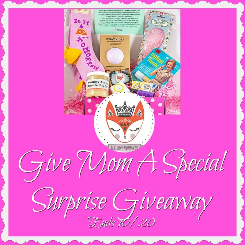 *CLOSED* Give Mom A Special Surprise Giveaway-Ends 10/20