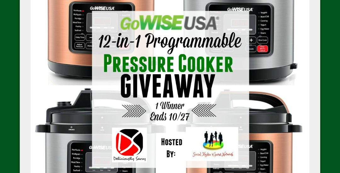 Okay, Mommas! I know we could all benefit from a kitchen appliance upgrade, so here is a really great opportunity to do just that. Enter to win in the GoWISE USA 12-in-1 Pressure Cooker Giveaway before it's too late! Good luck.