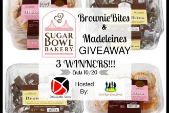 Mmmm.... here's a sweet giveaway you do not want to miss. Enter to win in theSugar Bowl Bakery Brownie Bites & Madeleines Giveaway. Good luck.