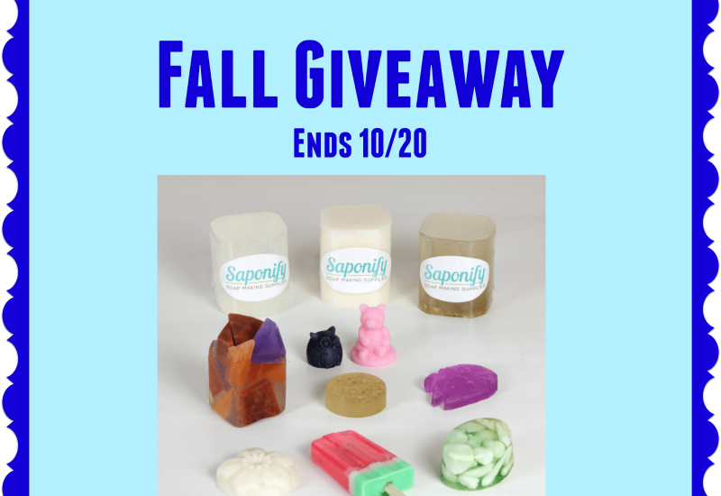 Soap making makes for a really fun family activity. My girls love making soap. You can start your own soap making fun by enter to win in the Soap Making Fun For Fall Giveaway. Enter away, and good luck!