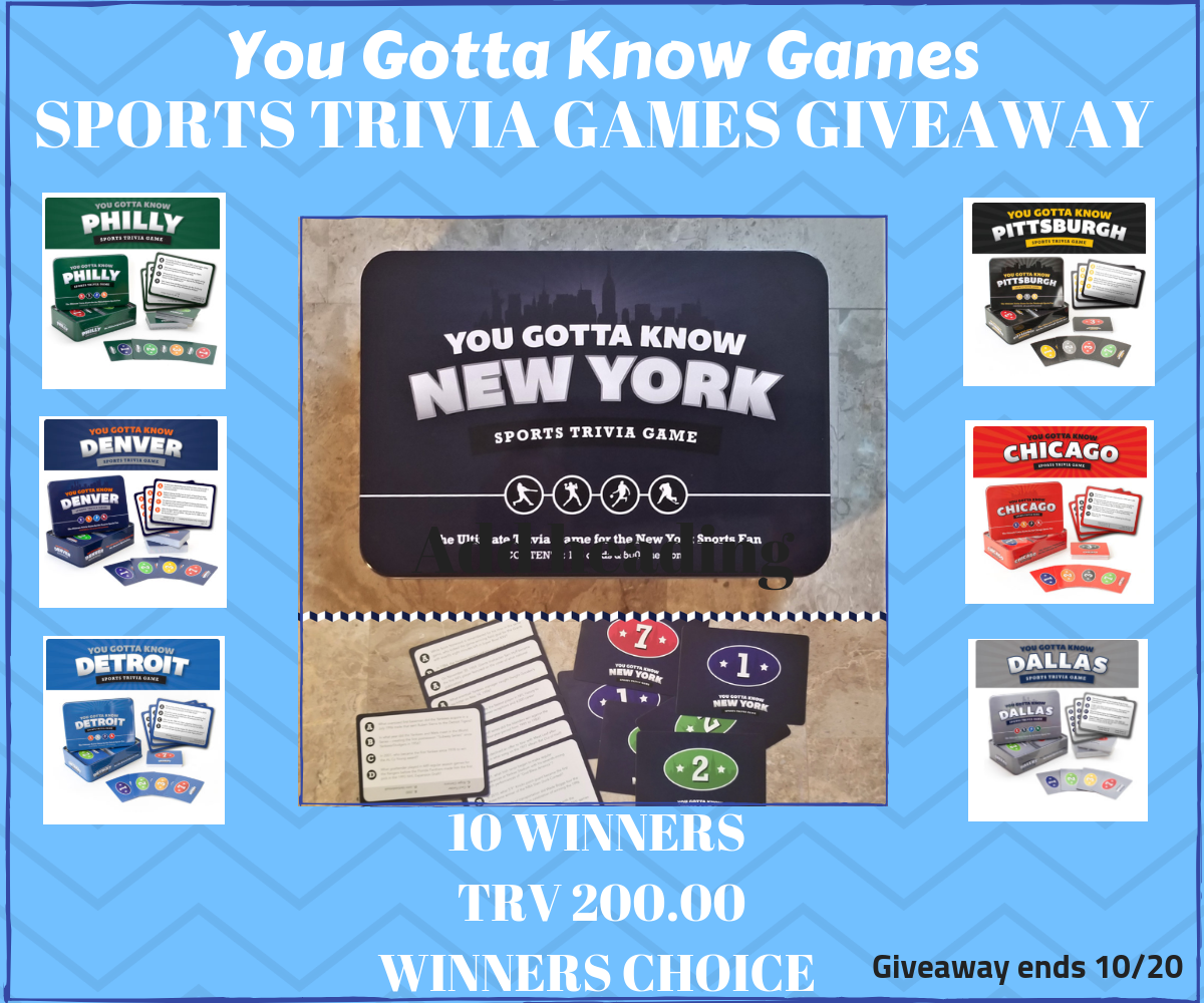 *CLOSED* You Gotta Know Games Giveaway- Ends 10/20