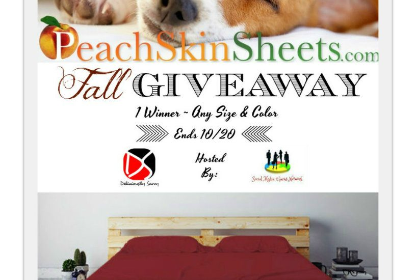 Ah! Fall is near, and the sweet smell of pumpkin spice is in the air. 'Tis the season of coziness, and I love it! You can get cozy too by entering to win in this PeachSkinSheets Fall Giveaway! Enter away, and good luck!