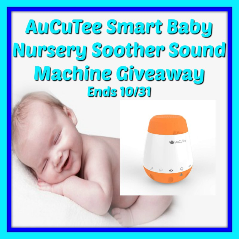 I have an awesome giveaway for my Mommas out there with babies. Enter to win in the AuCuTee Smart Baby Nursery Soother Sound Machine Giveaway-Ends 10/31.