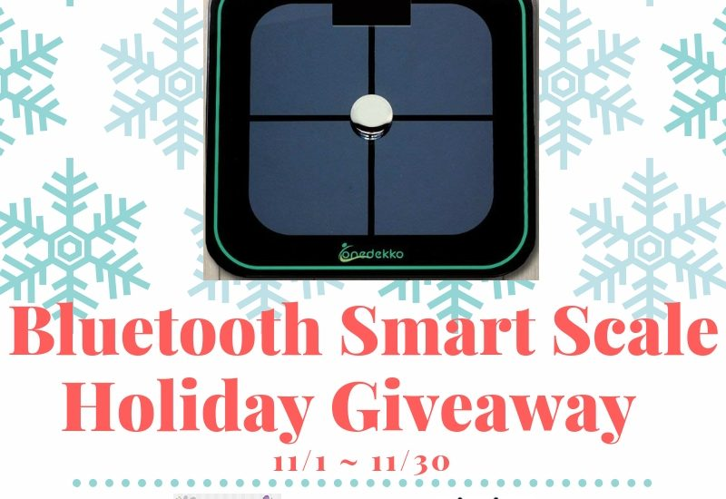 Step up your fitness routine with a scale that measures more than just your weight. Enter to win in theBluetooth Smart Scale Holiday Giveaway before it's too late. Good luck!