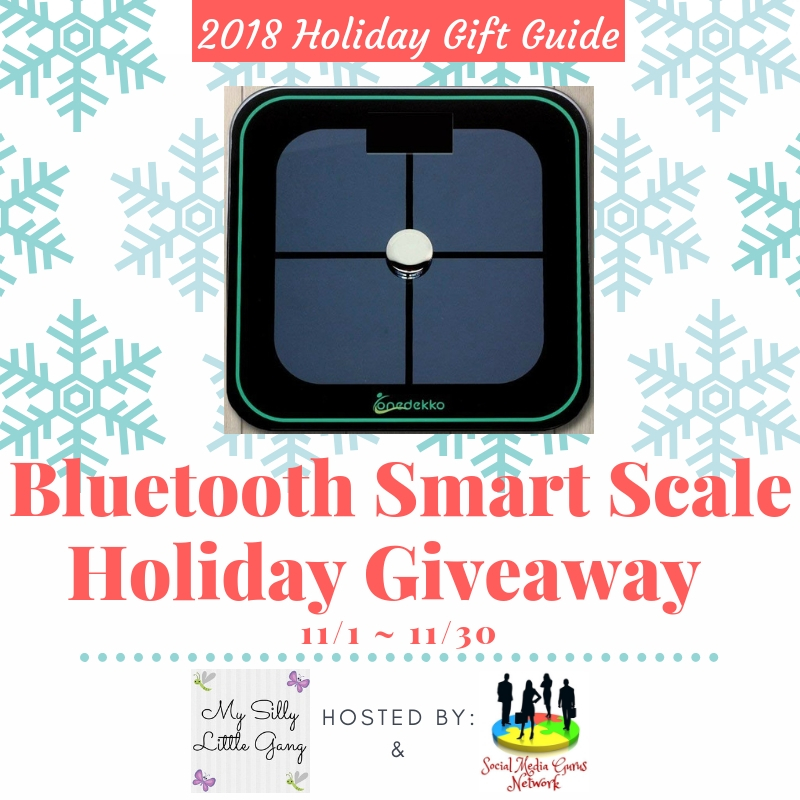 Step up your fitness routine with a scale that measures more than just your weight. Enter to win in the Bluetooth Smart Scale Holiday Giveaway before it's too late. Good luck!