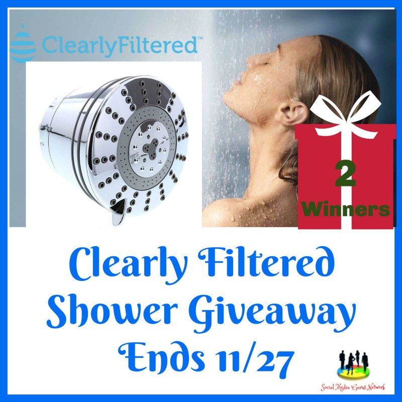 Your family can get extra clean in their next shower with a Clearly Filtered Shower Head. Enter to win one now in theClearly Filtered Shower Giveaway before it's too late. Good luck!