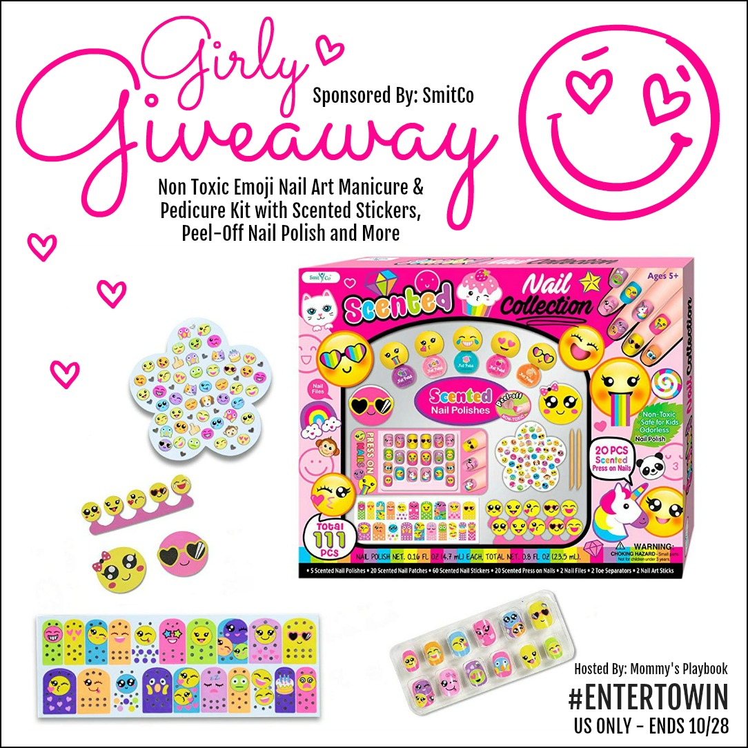 If you have a girly girl on your hands, you will definitely want to take advantage of this fun giveaway. Enter to win in theNail Art Kit Giveaway before it's too late. Good luck.