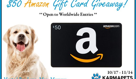 With the holidays being right around the corner, now is a good time to get a head start on your gift-shopping. What better way to do that than with an Amazon Gift Card? Enter to win in the $50 Amazon Gift Card Giveaway before it's too late. Good luck!