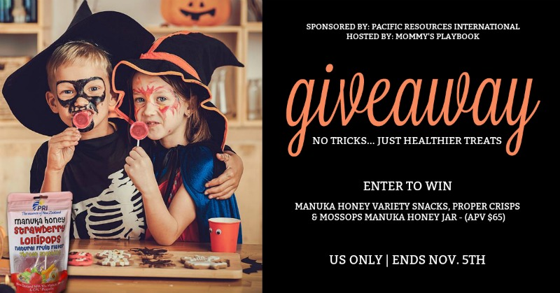 Satisfy that sweet tooth with healthier treats from Manuka Honey! Enter to win in the Pacific Resources International Giveaway to win a Manuka Honey Prize Pack. Good luck!