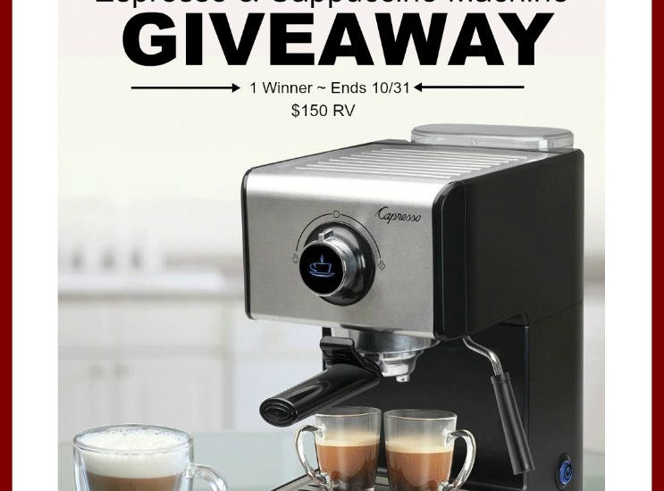 Save some time in the morning by nixing that cappuccino stop, and making it from the comfort of your very own home. Enter to win in the Capresso EC300 Espresso & Cappuccino Machine Giveaway.  Good luck.