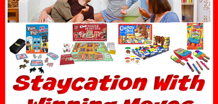 Planning a staycation over the holidays? Well, make it a fun one with exciting games for the entire family. Enter to win in theStaycation With Winning Moves Giveaway before it's too late. Good luck!