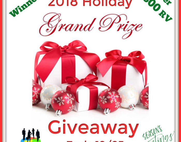 Nothing spreads holiday cheer like a juicy giveaway. Enter to win in the 2018 Holiday Grand Prize Giveaway before it's too late. Good luck!