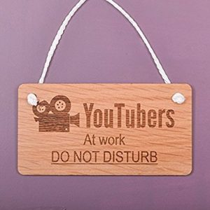 YouTuber Wood Wall Sign on Etsy