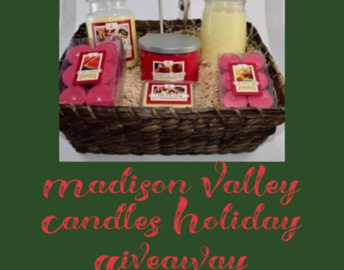 Treat yourself to a bit of pampering this holiday with theMadison Valley Candles Holiday Giveaway. Enter to win before it's too late. Good luck!