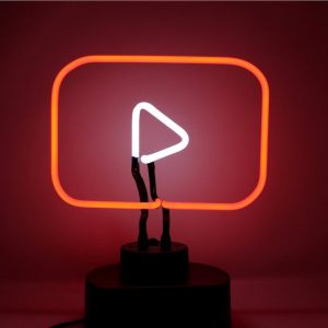 YouTube Neon Desk Light
