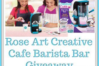 Here is your opportunity to snag a fun gift for the kiddos. Enter to win in theRose Art Creative Cafe Barista Bar Giveaway before it's too late. Good luck.