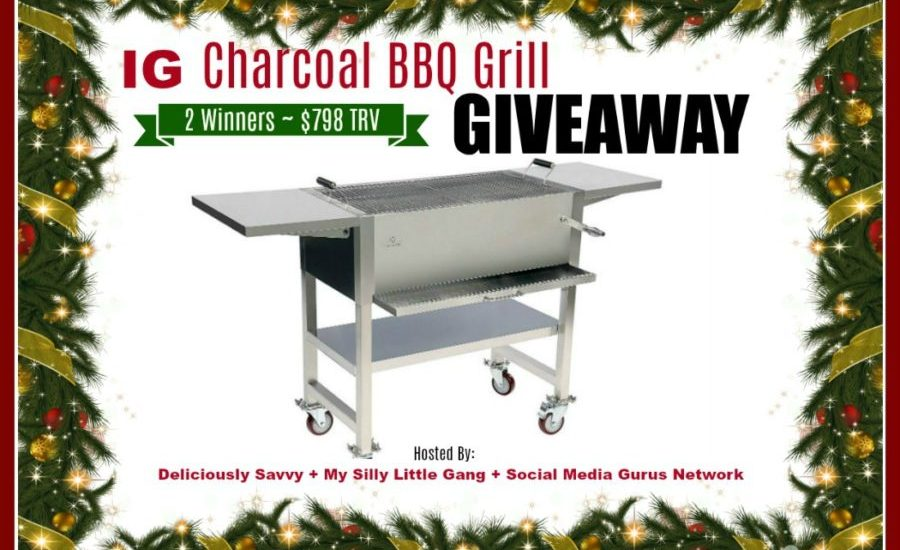 Win a special gift for yourself this Christmas. Enter to win in the IG Charcoal BBQ Grill Giveaway before it's too late. Good luck!